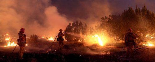 Incendios que están arrasando con California