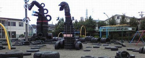 Parque de neumáticos en Tokio