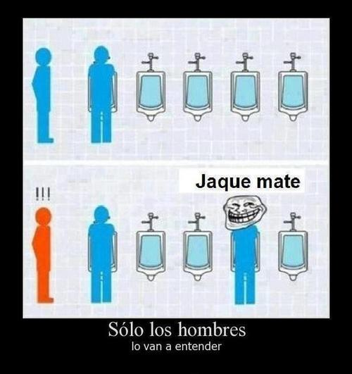 Un día cualquiera en los baños masculinos…