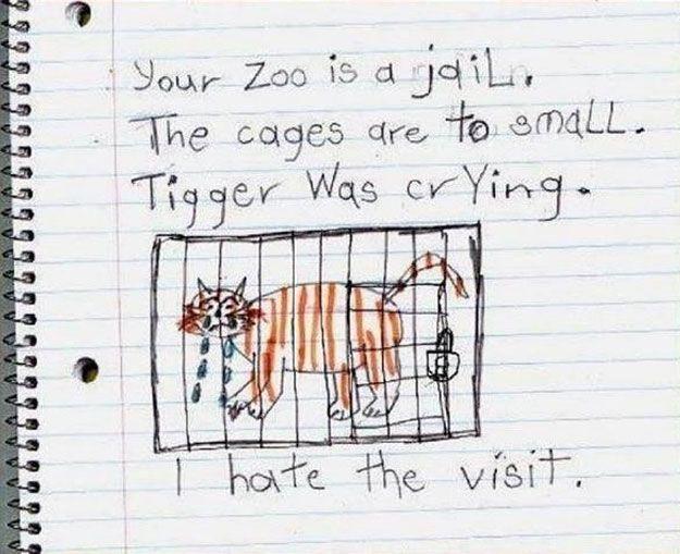Así describe un niño su visita al zoo