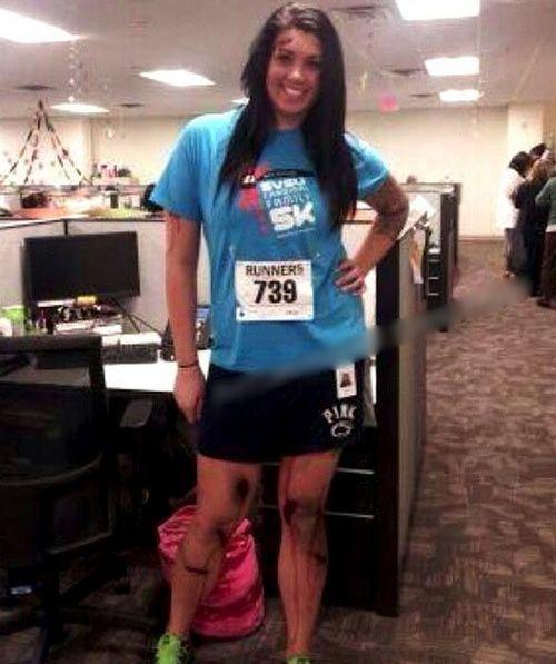 Disfraz de víctima de la maratón de Boston