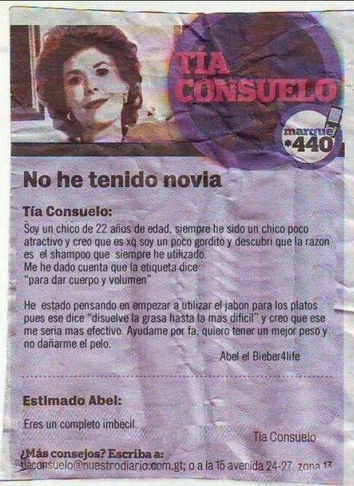 La tía Consuelo está para ayudarte… a veces