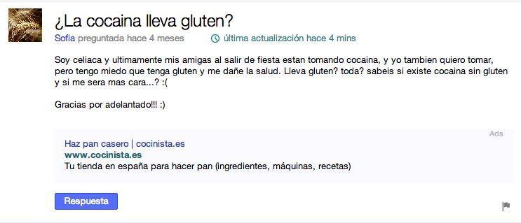 Cocaina sin gluten