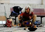 Artista callejero en Lisboa