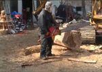 Escultura en madera con motosierra de Bioshock