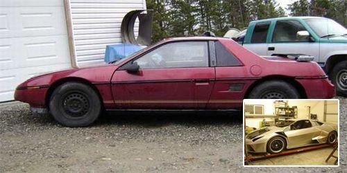 Pontiac Fiero convertido en Lamborghini Reventón