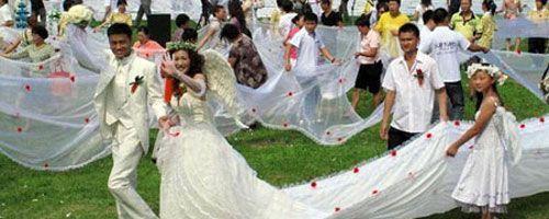 El vestido de boda más largo del mundo
